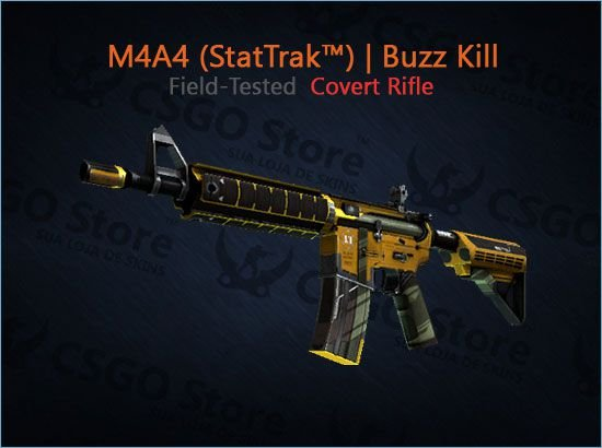 M4A4 (StatTrak™) | Buzz Kill (Field-Tested)