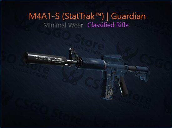 M4A1-S (StatTrak™) | Guardian (Minimal Wear)