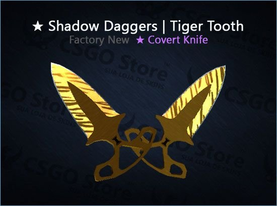 ★ Shadow Daggers | Tiger Tooth (Factory New)