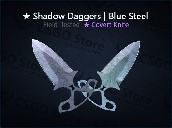 ★ Shadow Daggers | Blue Steel (Field-Tested)