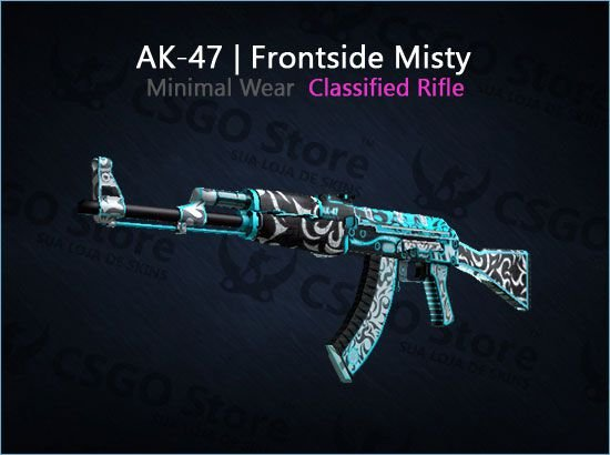 AK-47   Frontside Misty (Minimal Wear)