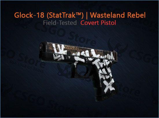 Glock-18 (StatTrak™) | Wasteland Rebel (Field-Tested)