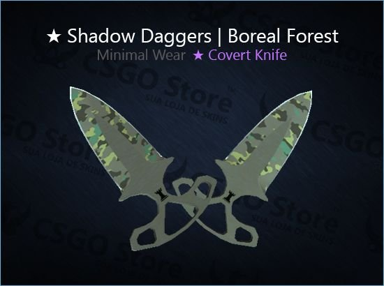 ★ Shadow Daggers | Boreal Forest (Minimal Wear)