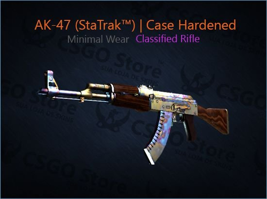 AK-47 (StatTrak™) | Case Hardened (Minimal Wear)
