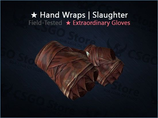 ★ Hand Wraps | Slaughter (Field-Tested)