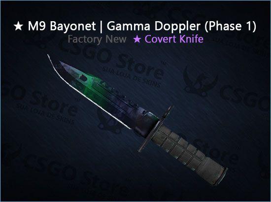 ★ M9 Bayonet | Gamma Doppler Phase 1 (Factory New)