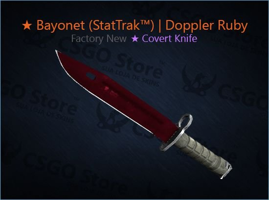 Bayonet (★ StatTrak™) | Doppler Ruby (Factory New)