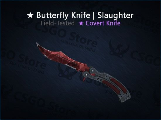 ★ Butterfly Knife | Slaughter (Field-Tested)