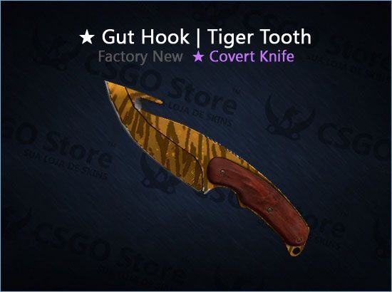 ★ Gut Knife   Tiger Tooth (Factory New)