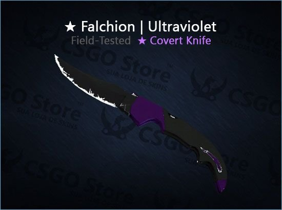 ★ Falchion Knife | Ultraviolet (Field-Tested)