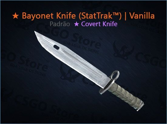 ★ Bayonet (StatTrak™) | Vanilla (Padrão)