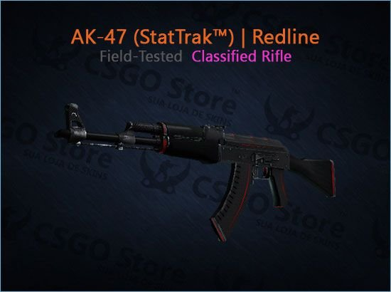 AK-47 (StatTrak™) | Redline (Field-Tested)