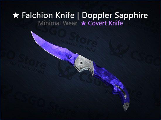 ★ Falchion Knife | Doppler Sapphire (Minimal Wear)