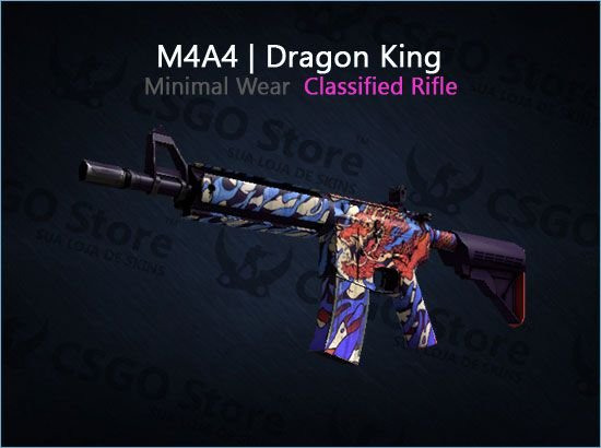 M4A4 | Dragon King (Minimal Wear)
