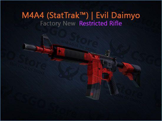 M4A4 (StatTrak™) | Evil Daimyo (Factory New)