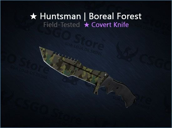 ★ Huntsman Knife | Boreal Forest (Field-Tested)