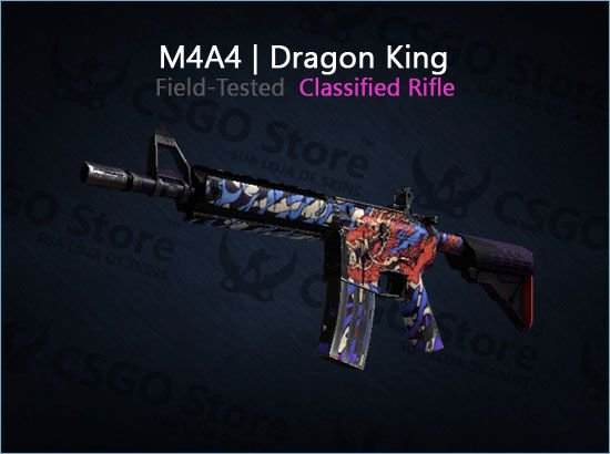 M4A4 | Dragon King (Field-Tested)