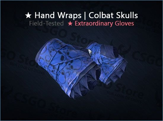 ★ Hand Wraps | Cobalt Skulls (Field-Tested)