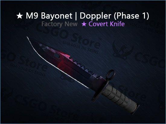 ★ M9 Bayonet | Doppler Phase 1 (Factory New)