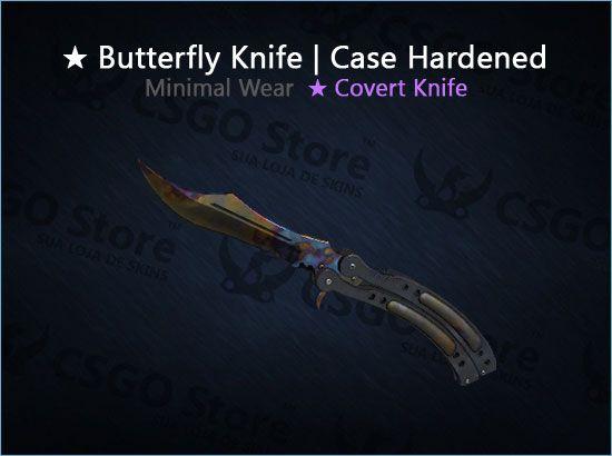 ★ Butterfly Knife | Case Hardened (Minimal Wear)