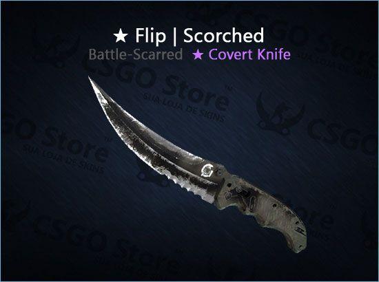 ★ Flip Knife   Scorched (Battle-Scarred)