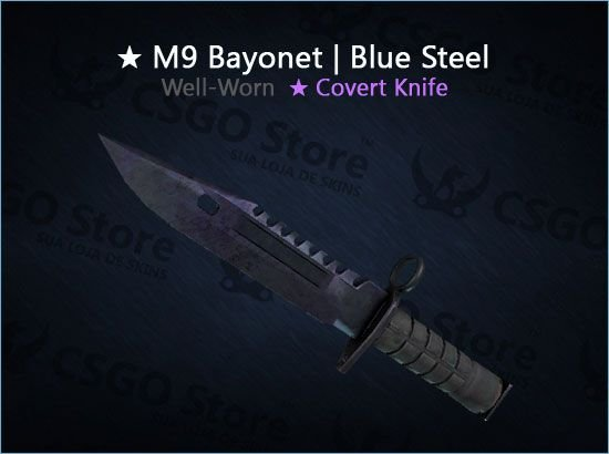 ★ M9 Bayonet | Blue Steel (Well-Worn)