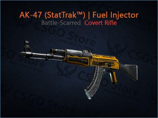 AK-47 (StatTrak™) | Fuel Injector (Battle-Scarred)