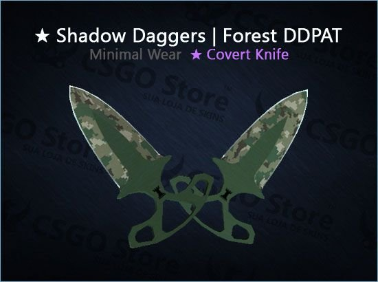 ★ Shadow Daggers | Forest DDPAT (Minimal Wear)