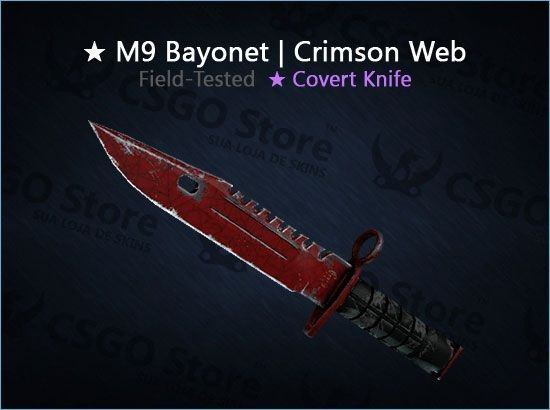 ★ M9 Bayonet   Crimson Web (Field-Tested)