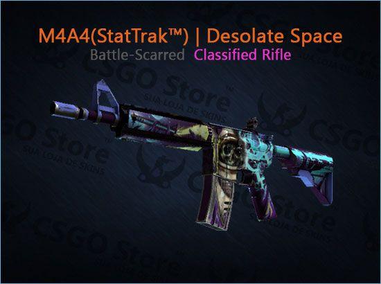 M4A4 (StatTrak™)   Desolate Space (Battle-Scarred)