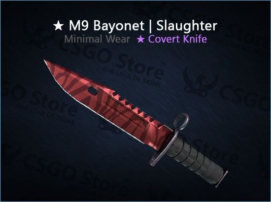 ★ M9 Bayonet | Slaughter (Minimal Wear)