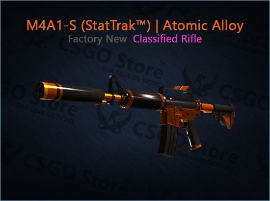 M4A1-S (StatTrak™) | Atomic Alloy (Factory New)