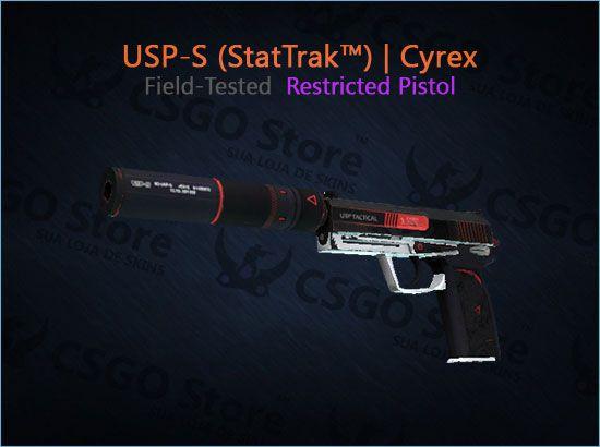 USP-S (StatTrak™)   Cyrex (Field-Tested)