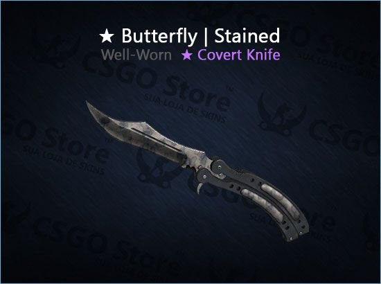 ★ Butterfly Knife | Stained (Well-Worn)