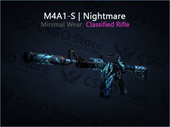 M4A1-S | Nightmare (Minimal Wear)