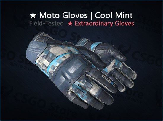 ★ Moto Gloves | Cool Mint (Field-Tested)