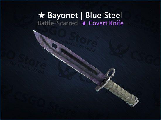 ★ Bayonet   Blue Steel (Battle-Scarred)