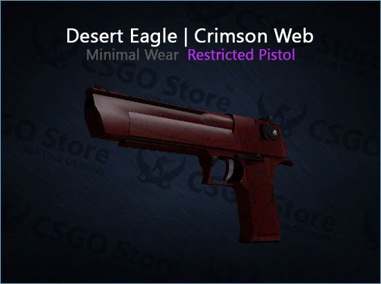 Desert Eagle | Crimson Web (Minimal Wear)
