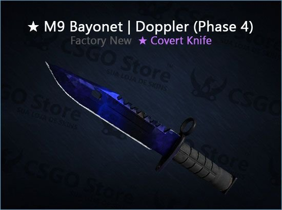 ★ M9 Bayonet | Doppler Phase 4 0.010 (Factory New)