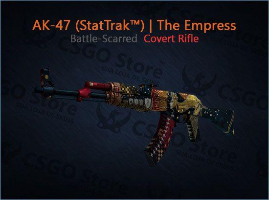 AK-47 (StatTrak™)   The Empress (Battle-Scarred)