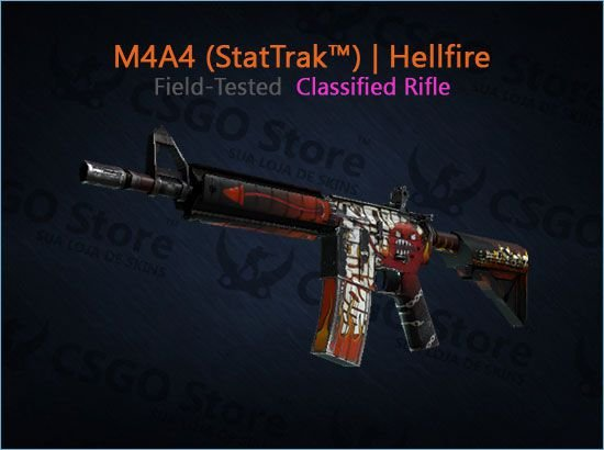 M4A4 (StatTrak™) | Hellfire (Field-Tested)