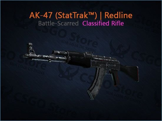 AK-47 (StatTrak™) | Redline (Battle-Scarred)