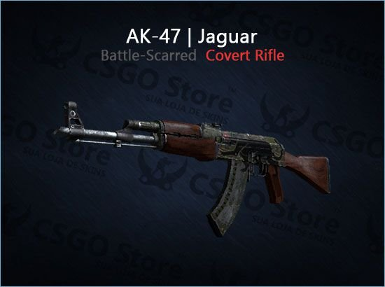 AK-47 | Jaguar (Battle-Scarred