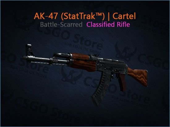 AK-47 (StatTrak™) | Cartel (Battle-Scarred)