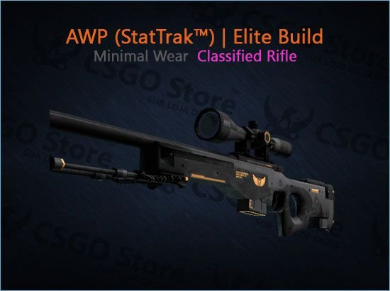 AWP (StatTrak™) | Elite Build (Minimal Wear)