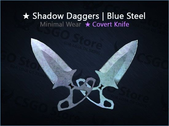 ★ Shadow Daggers | Blue Steel (Minimal Wear)