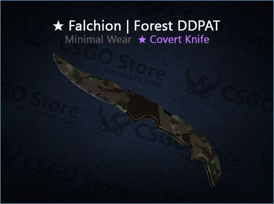 ★ Falchion Knife | Forest DDPAT (Minimal Wear)