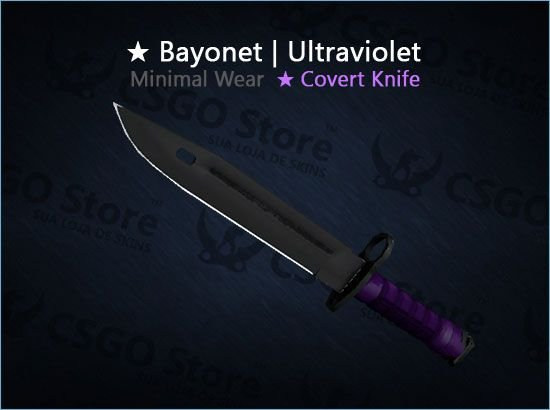★ Bayonet   Ultraviolet (Minimal Wear)
