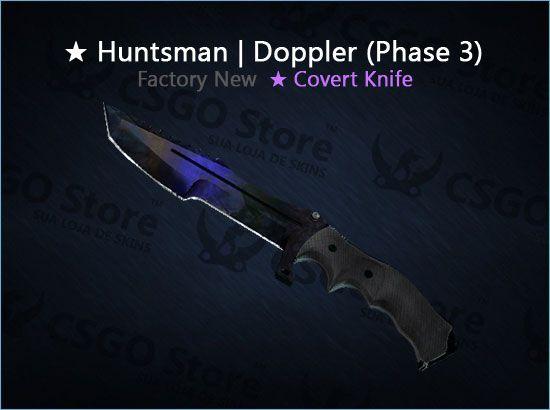 ★ Huntsman Knife | Doppler Phase 3 (Factory New)