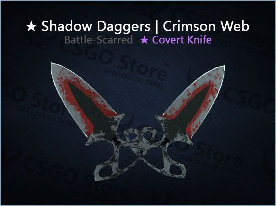 ★ Shadow Daggers | Crimson Web (Battle-Scarred)